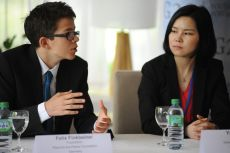 From left to right: Felix Finkbeiner, Yanjie Yang