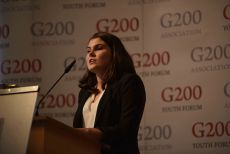 G200 Youth Forum 2016 Official Closing Ceremony, Ms. Jamie Crowe, Student, Griffith University, Australia- Secretary Generals of the New Strategies for Financial Sector and World Economy Committee