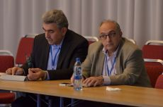 Conference. From left to right: Mr. Triantafyllos Albanis, Rector and Mr. Isaac Lagaris, Vice rector for research, University of Ioannina