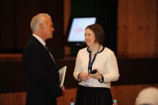 Before the Official Opening Ceremony, Ms. Ksenia Khoruzhnikova and Mr. Chris Skellett, Panellist of the Plenary Session