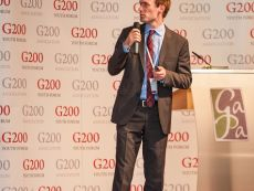 G200 Youth Forum 2015 Official Closing Ceremony, Mr. Bradley Kalgovas, Adjunct Academic of the University of South Wales, AUustralia, Chair and Secretary General of the Future of Science Committee of the G20 Youth Summit