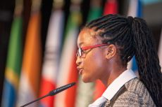 G200 Youth Forum 2015 Official Closing Ceremony, Ms. Iris Nxumalo, Student of the University of Pretoria, Secretary General of the Social Security Committee of the G20 Youth Summit