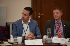 International Young Parliamentarians` Debate, Mr. Robert de Wit, Provinciale Staten Groningen and Mr. Johan Nissinen, Swedish Parliament