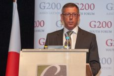 G200 Youth Forum 2015 Official Opening Ceremony, Mr. Wolfgang Bauer, Deputy Mayor of Garmisch-Partenkirchen, Welcomes Participants