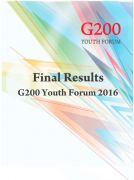 G200 Youth Forum 2016 Final Results