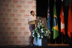 G200 Youth Forum 2016 Official Closing Ceremony, Ms. Kiran Afsar, Student, University of Hertfordshire, the UK - Secretary General of the Round Table II: Law and Human Rights