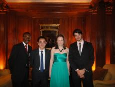 Ksenia Khoruzhnikova (IYDL President, G8 & G20 Alumni Assotiation President) and Youth BRICS representatives