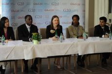 Group Interview. From left to right: Yanjie Yang, Michael Baffoe, Ksenia Khoruzhnikova, Sedzani Siaga, Apurv Gupta