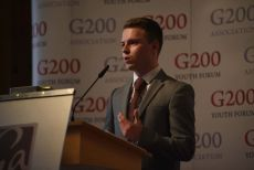 G200 Youth Forum 2016 Official Closing Ceremony, Secretary general of the Round Table VI: Design, Technology, and Innovations - Mr. Colin Hamilton , Student at the University of Hertfordshire, UK