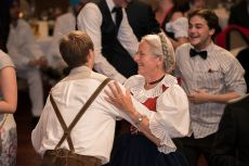 Closing Gala Dinner and Bavarian Night, Klaudia and Franz Pittrich Conducting Tirol Dance Class for Participants