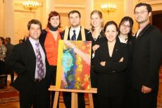 G8 Youth Summit, organized by NGO International Youth Diplomacy League, «The Future of the World» picture, created by the Canadian delegation 2006